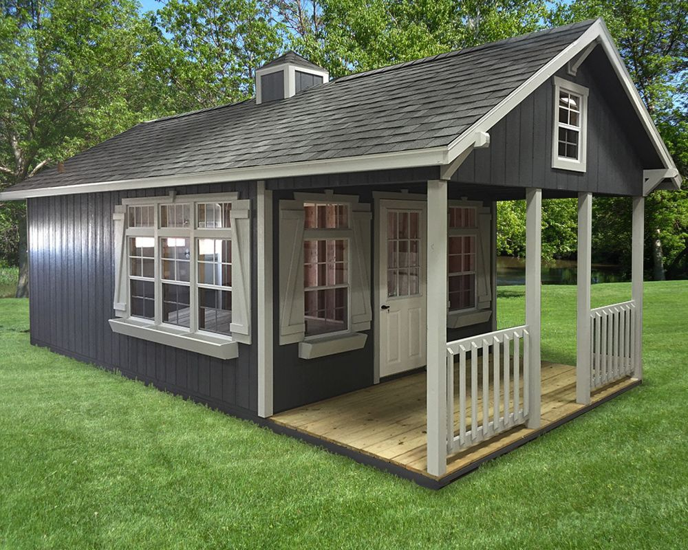 our standard porch patio sheds feature double doors rear - Garden Sheds With Patio