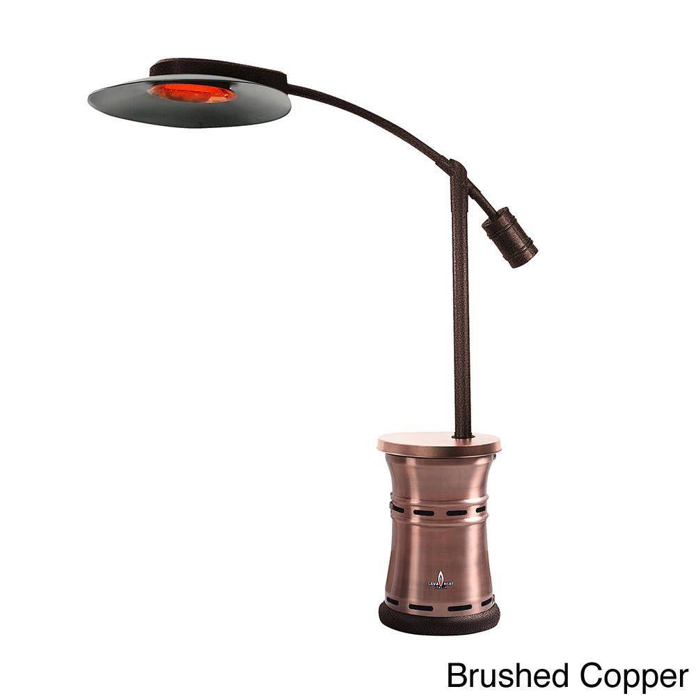 Lava Heat Italia 32,000 BTU Overhang Patio Heater (Brushed Copper Propane  Heater), Brown