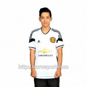 77f00b75408 Jual Jersey Bola MU away 2015 jersey Manchester United putih 2015-2016 baju  MU terbaru 2015