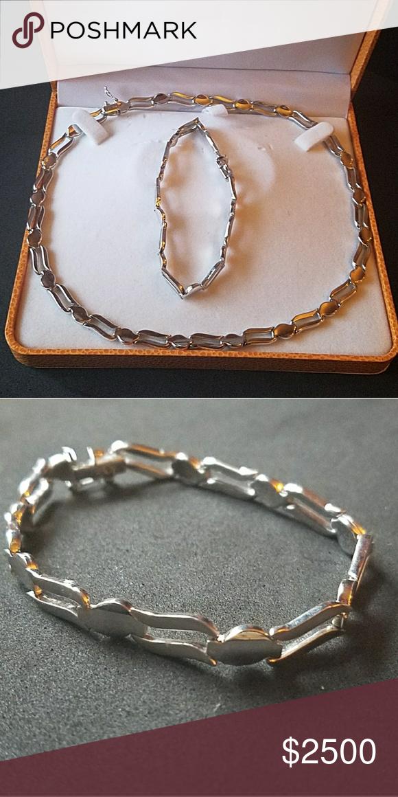 Adam S Jewelry 14k Whitegold Necklace Bracelet Nwt Nwt Jewelry