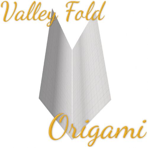 Valley-Fold Tutorial (Origami Folding Technique) Origami Folding