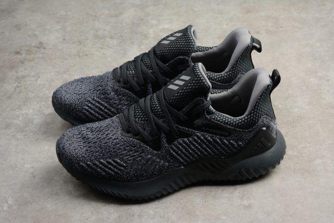 cc4f8fbaa 2018 Mens Adidas AlphaBounce EM M Black Grey For Sale-4