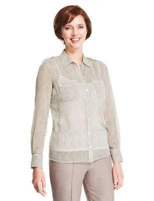 Classic – Gepunktete Bluse mit Camisole