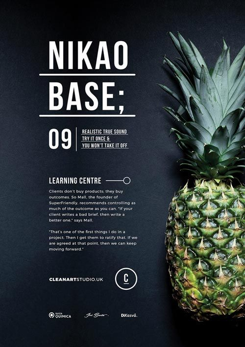 Nikao Base Simple Poster Design Graphic Flyer Layout