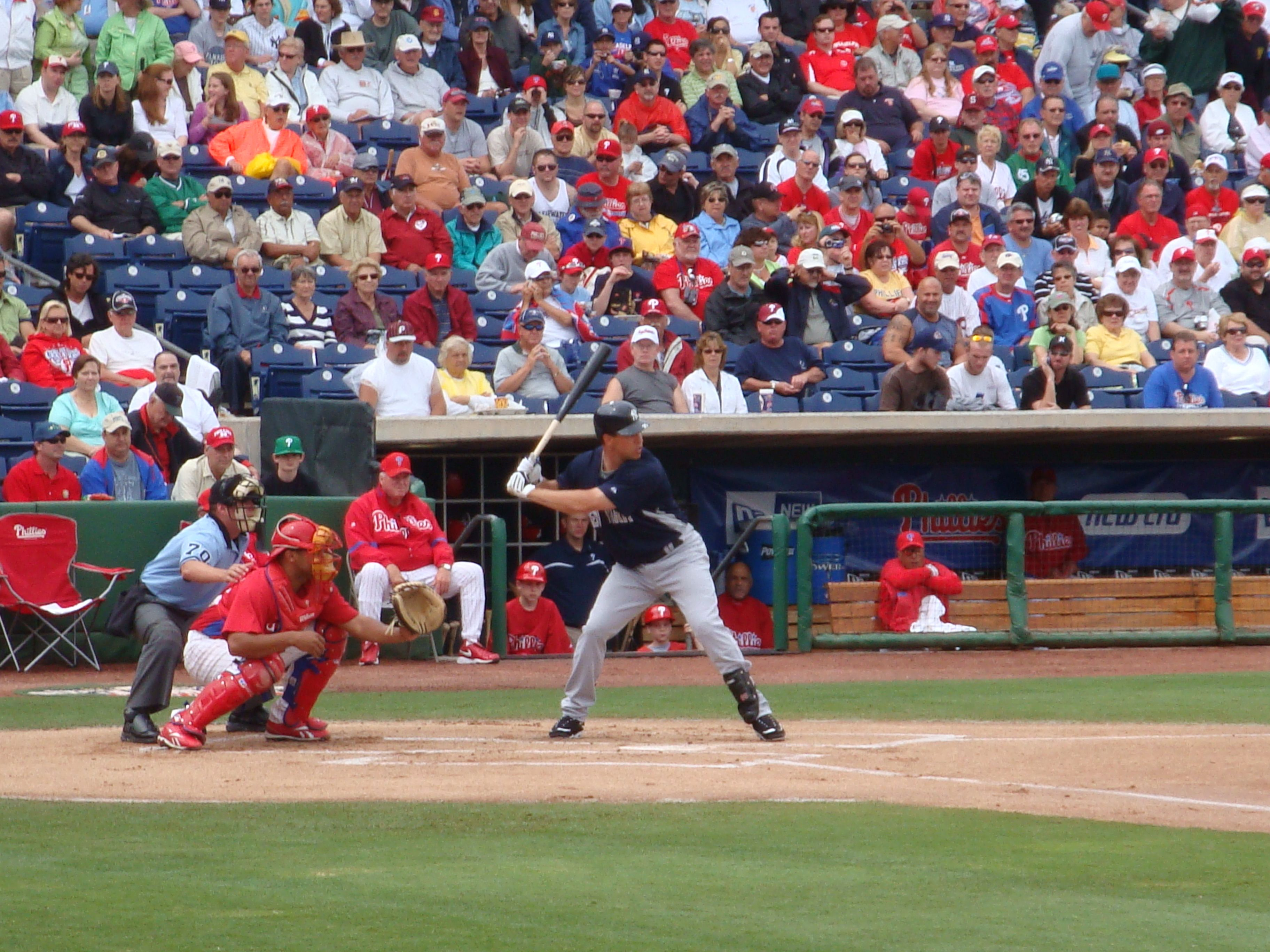 NY Yankees Mark Texiera at Brighthouse Networks Stadium, Clearwater, Florida. Spring Training home of the Philadelphia Phillies... 2009
