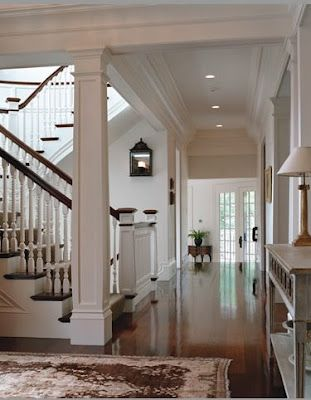 Trim Lighting Floors Love The Stain And White Combination Like The Column With The Staircase Stairs Design Interior House Stairs House