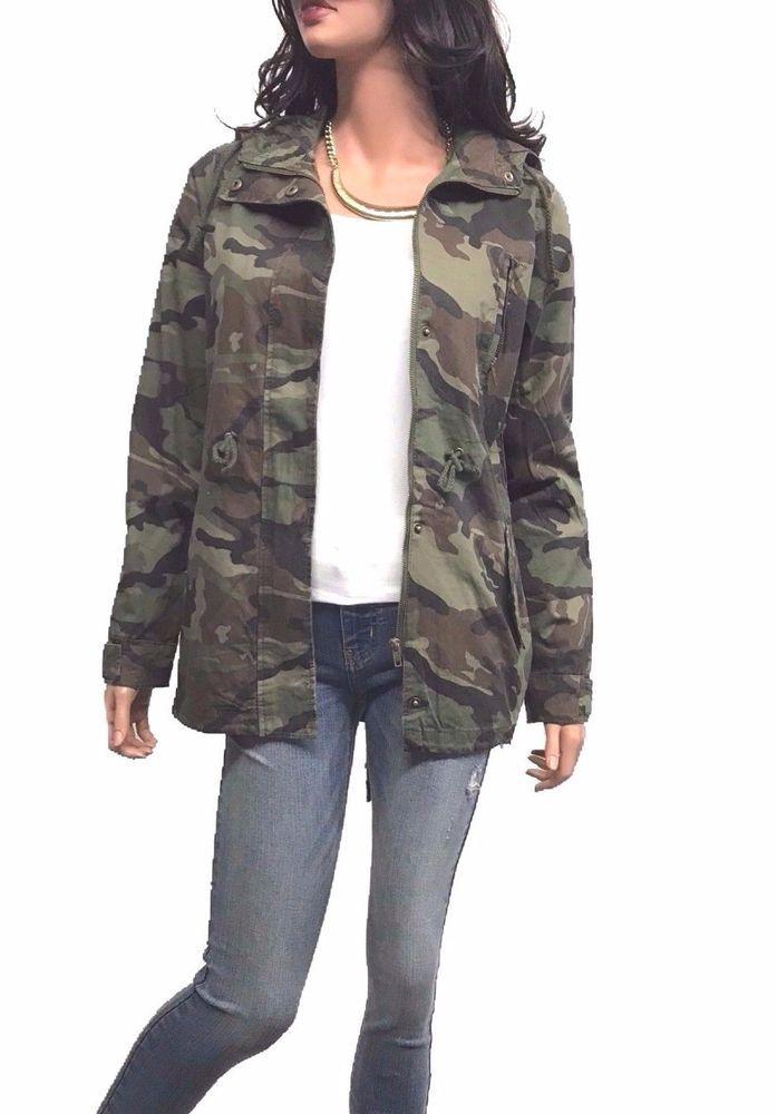 9fd68c45889a5 Women's Drawstring Utility Anorak Military Camo Jacket with Hoddy 1XL, 2XL,  3XL #AMBI #Military #CasualEveningOutdoorLayering