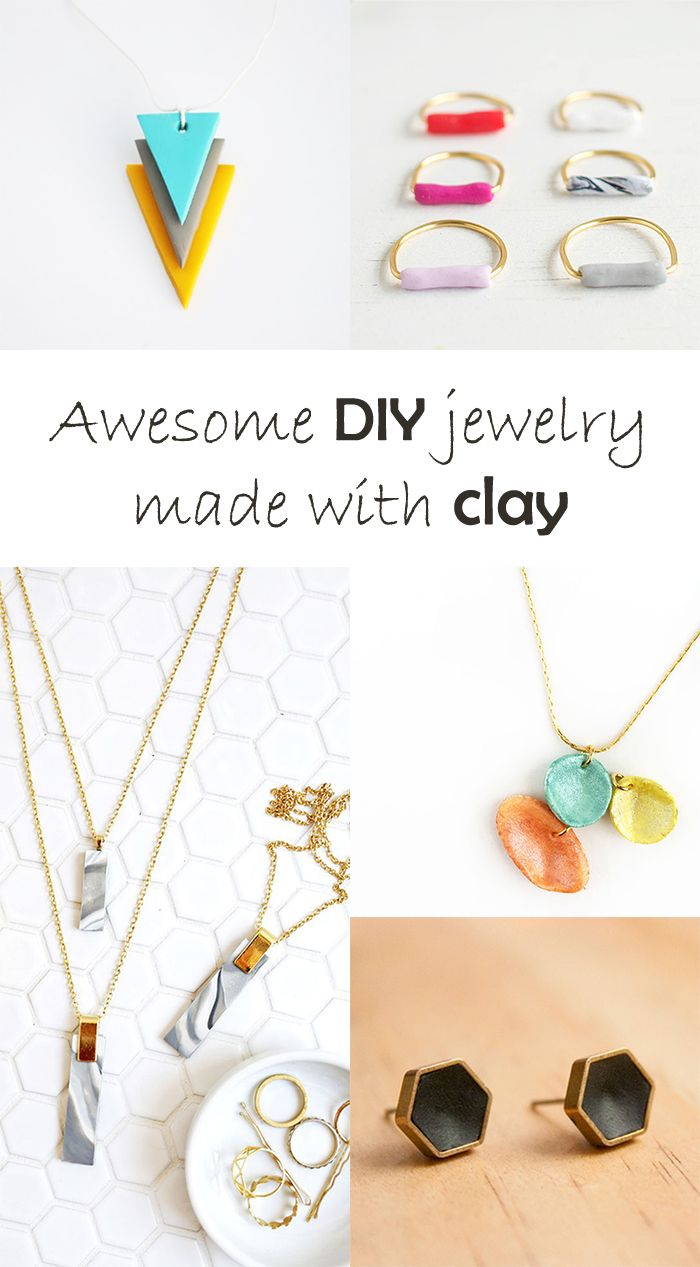 DIY to try # Jewelry with clay | Clay, Craft and Tutorials