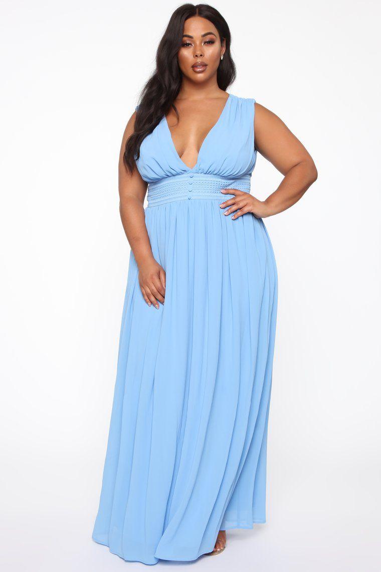 Relentless Love Chiffon Maxi Dress Blue Chiffon maxi
