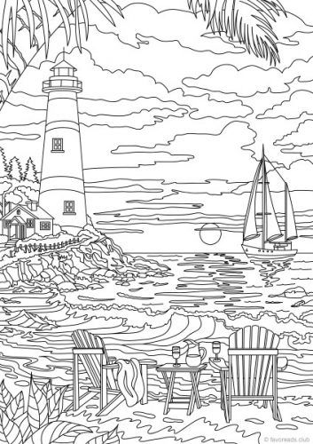 lighthouse coloring pages for adults Ocean Life   Lighthouse | Architecture Coloring Pages for Adults  lighthouse coloring pages for adults