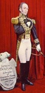 Photo of the Simon Bolivar display at the Miami Wax Museum.