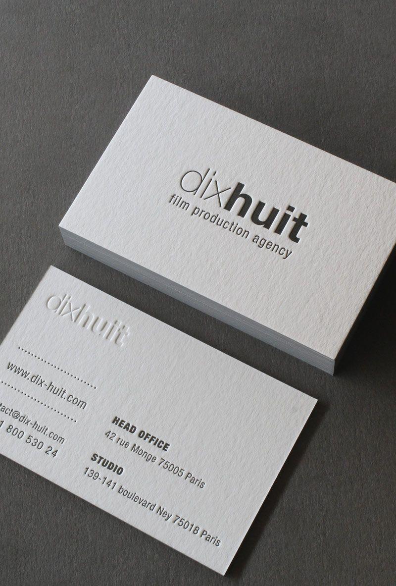 Carte Visite Letterpress Dix Huit 02 Carte De Visite Design
