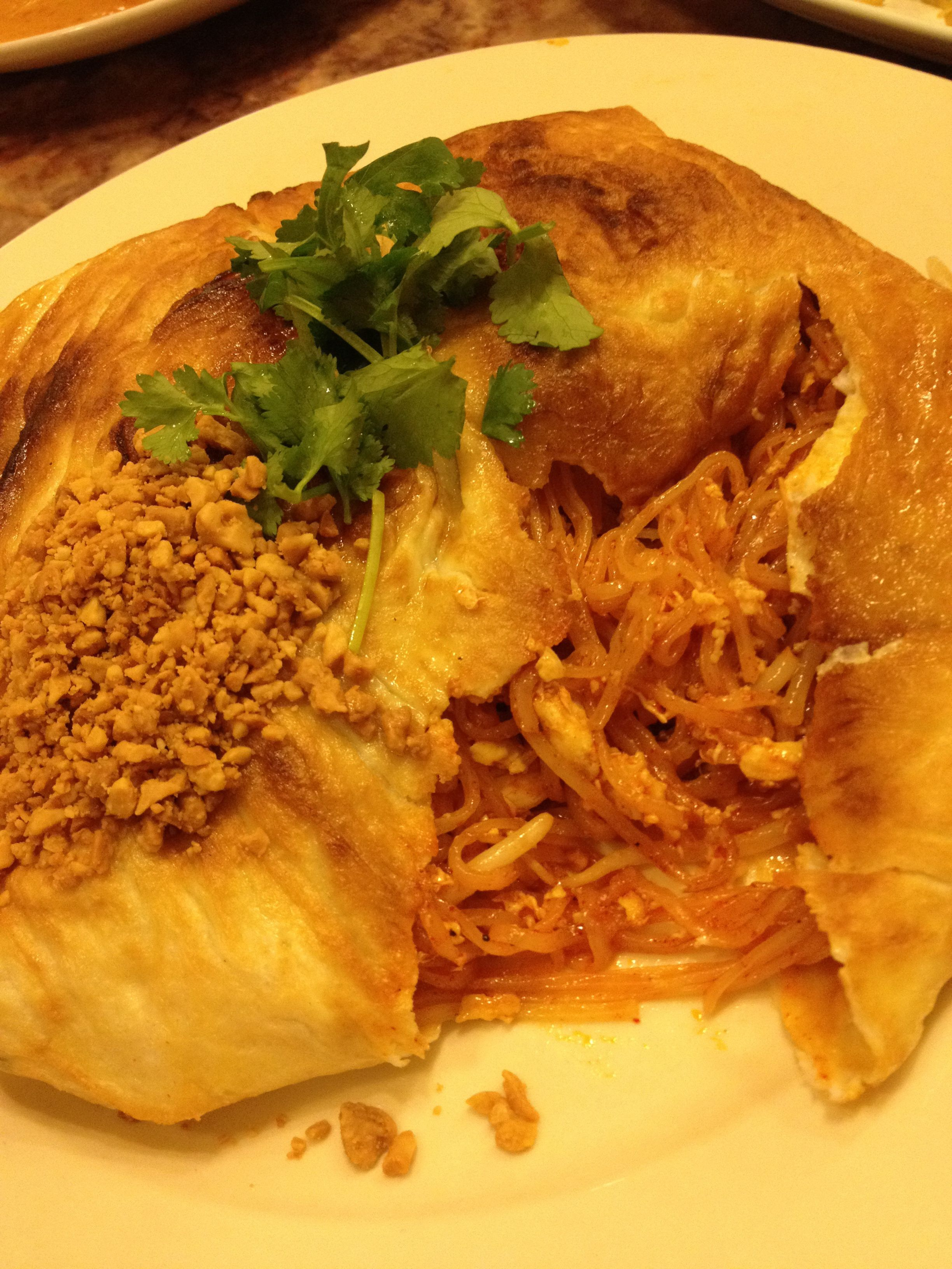#Padthai omelette, free delivery @ Siam Spoon