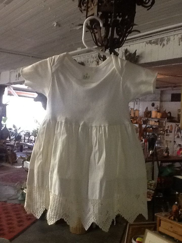 Vintage Dress made with Vintage Linens by 3birdz on Etsy