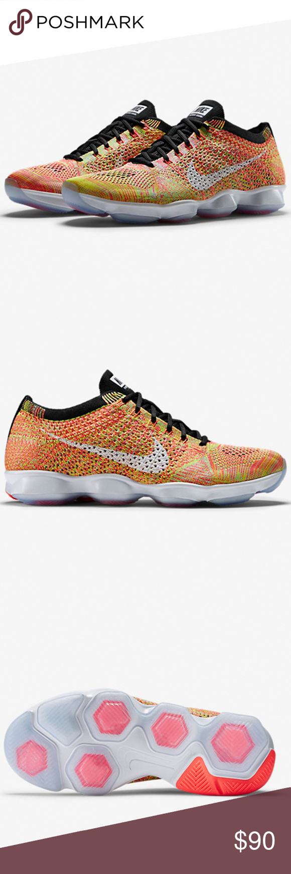Nike Shoes | Nike Flyknit Zoom Agility Hot Lava Runner Shoes