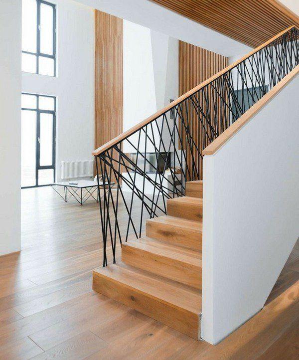Stair Railing Ideas Modern Interior Staircase Design Wood Steps