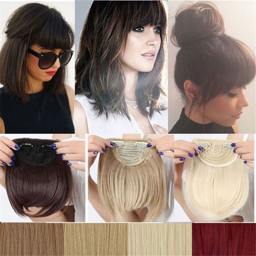 Real Natural Straight Hair Extensions Clip In Front Hair Bangs Fringe For Human Hair E Natural Straight Hair Hairstyles With Bangs Natural Hair Extensions Clip