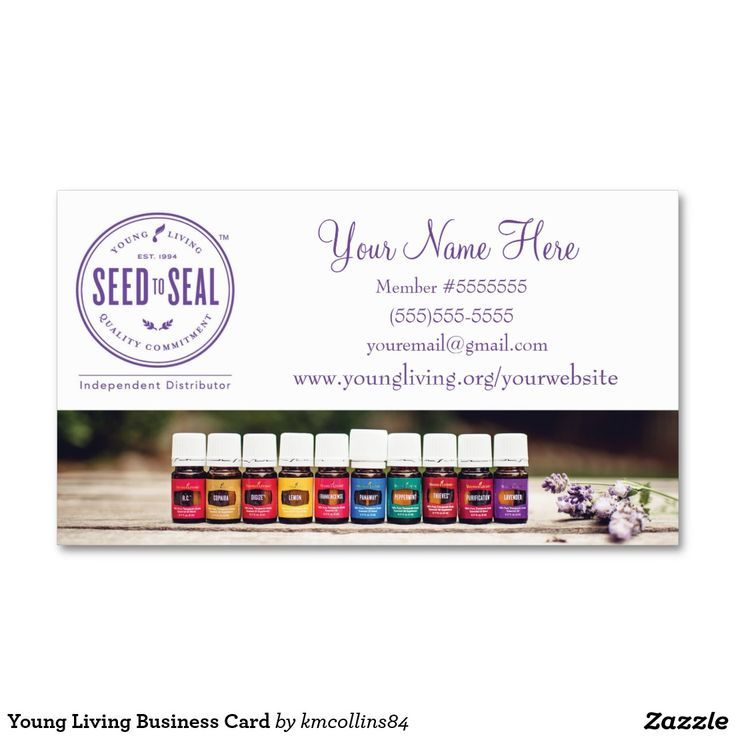 Um Junge Lebende Visitenkarten Plus Young Living Beispiel