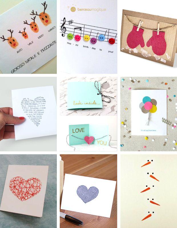 Favori 9 idées de cartes de vœux à faire soi-même | Carte de voeux, Trop  YQ49