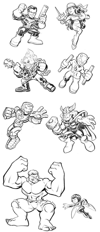 Coloriage Marvel Super Hero Squad Phenix | 30000 ...