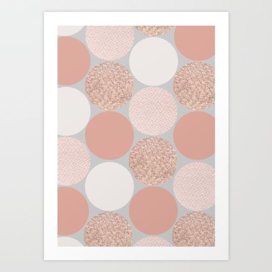Rose Gold Dots - $18