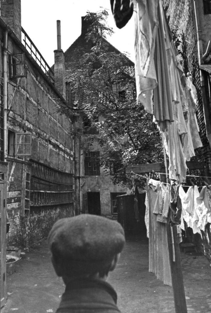 Slum på Christianshavn. Her det gamle kvarter på Christianshavn.