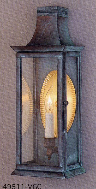 Genie House Lighting The 495 Series Wall Lantern 49511 Sconces Wall Sconces Copper Lantern