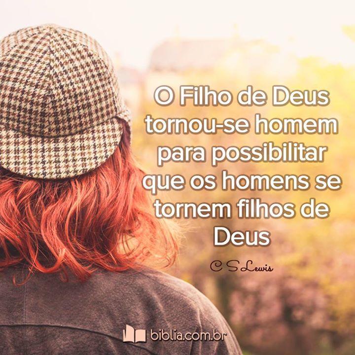 O filho de Deus tornou-se Homem para possibilitar que homens se tornem filhos de Deus. #joão316  #Jesus #csLewis #Biblia