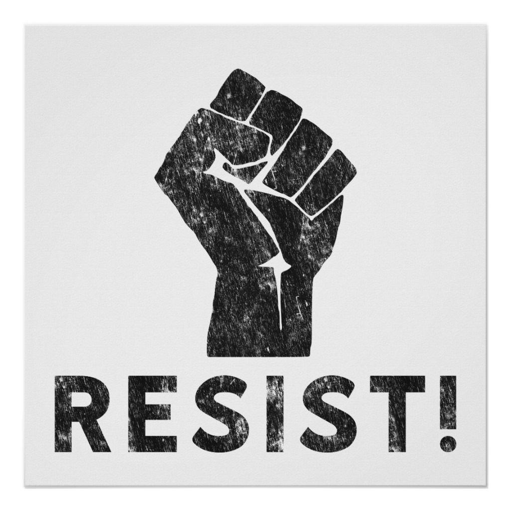 Resist Fist Poster Zazzle Com Fist Resist Tattoo Propaganda Art