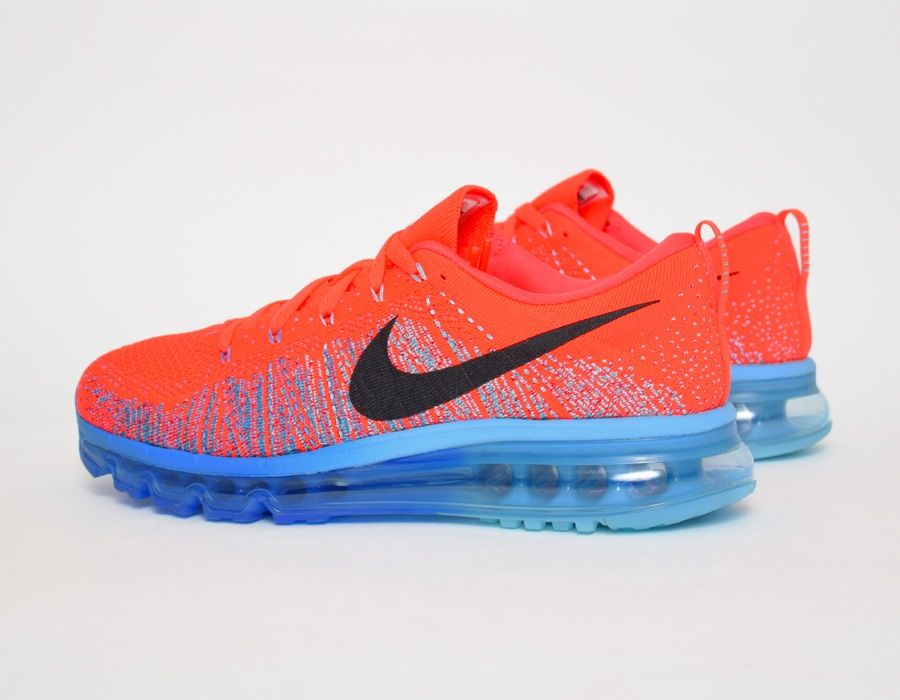 #Nike Flyknit Max Red Blue #sneakers