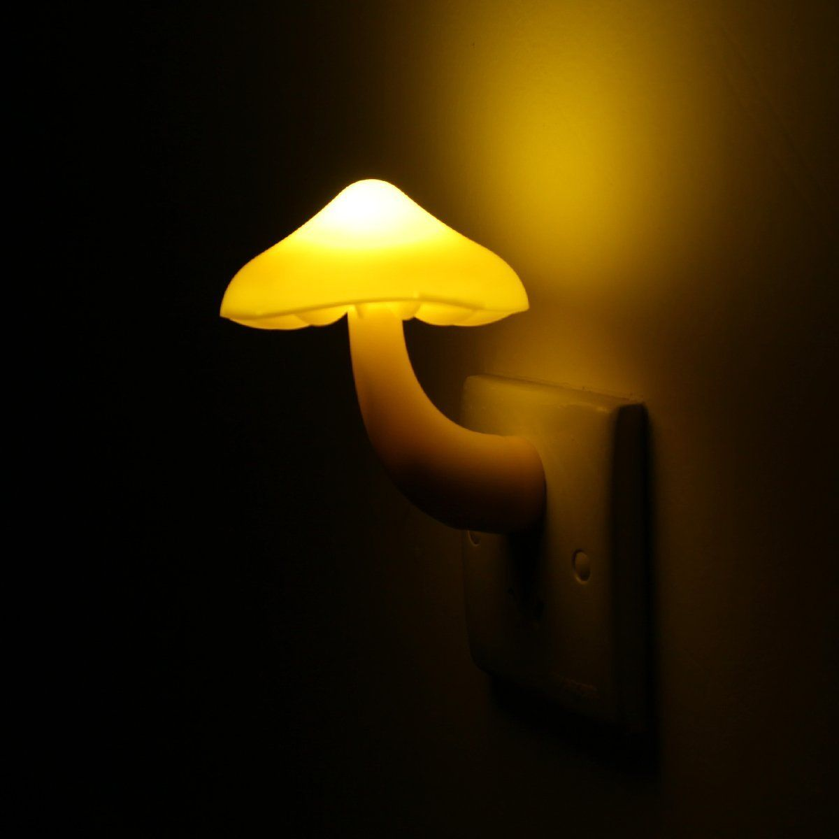 Light cute little mushroom night light with plug and sensor