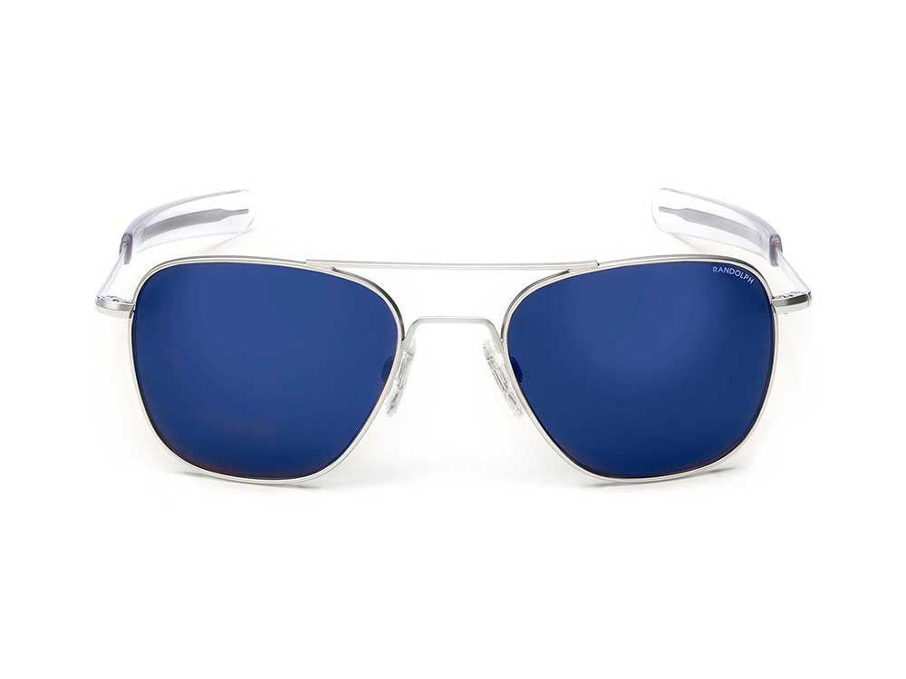 8ba2f01026a Randolph Engineering Aviator Matte Chrome Sunglasses - Blue Sky PC Bayonet  55mm