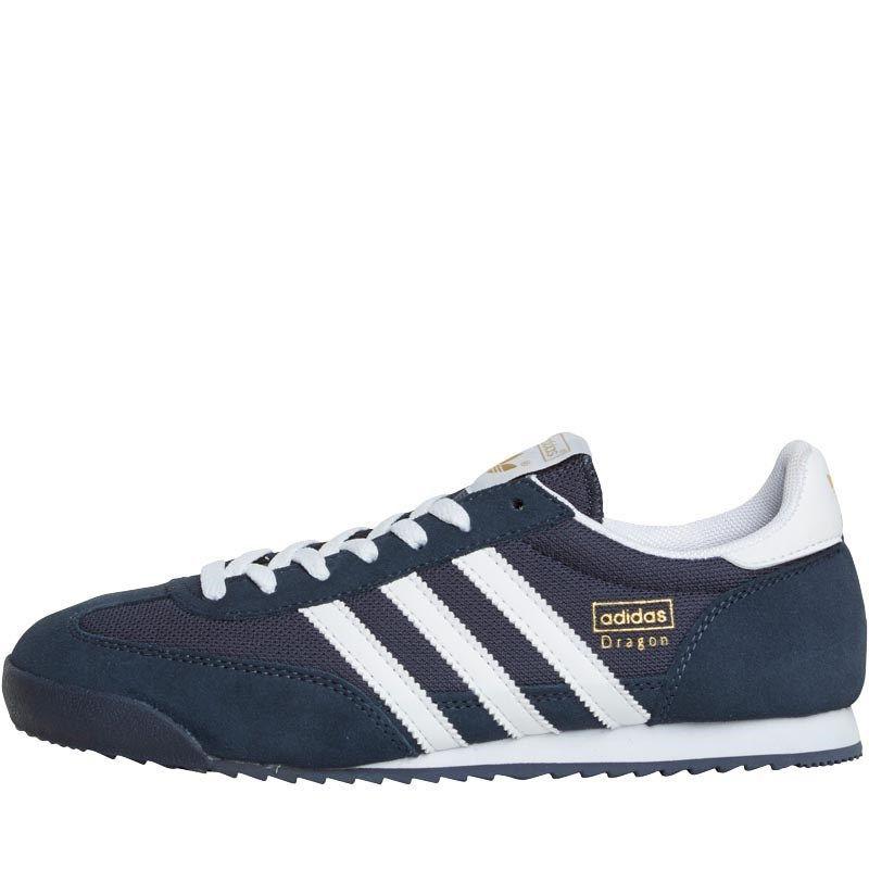 mens adidas dragon trainers blue