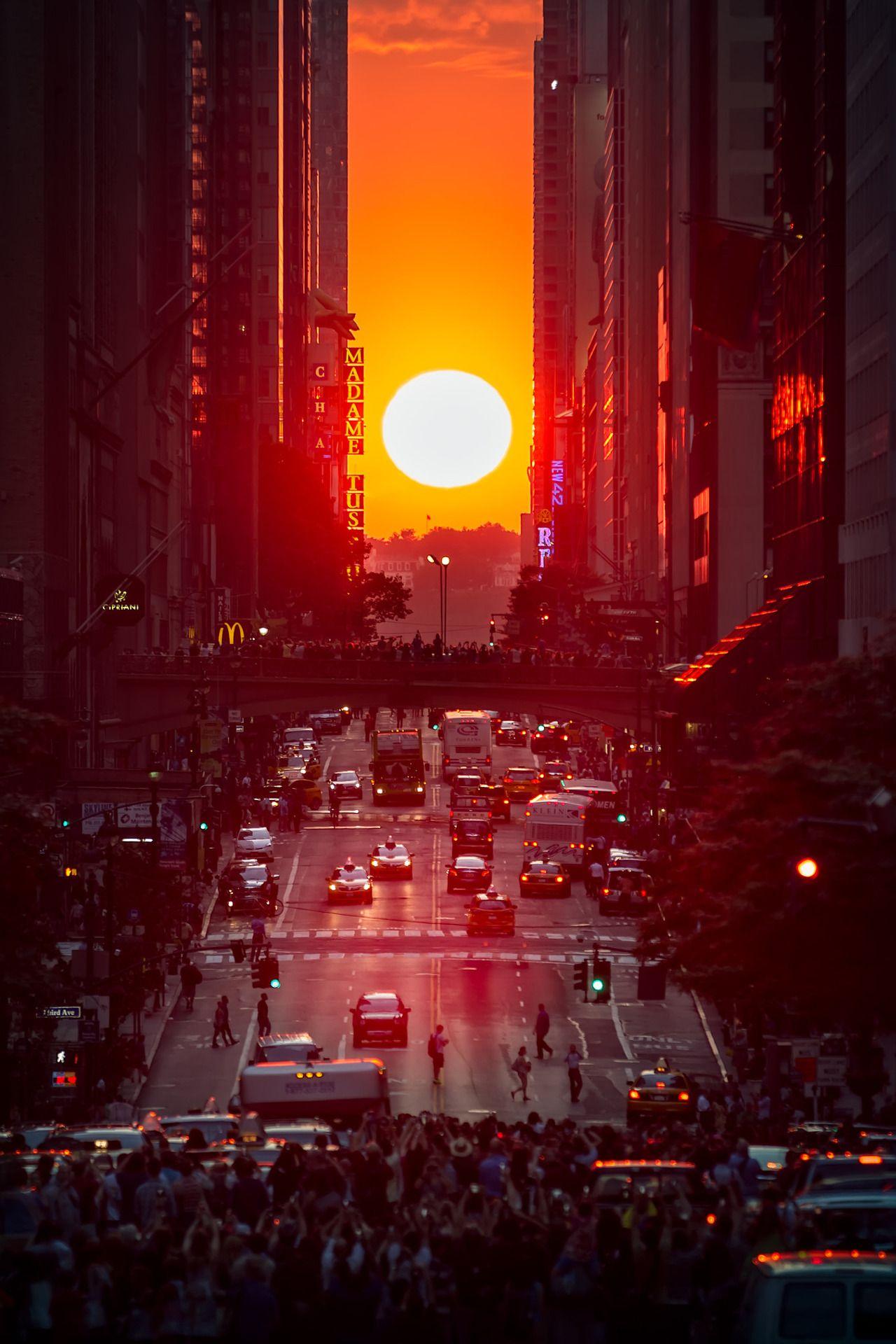 Manhattanhenge (by Eduard Moldoveanu) (con imágenes