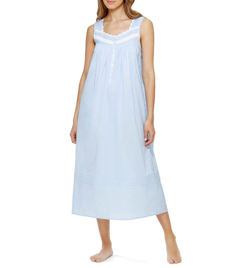 8127600f5c Eileen West Cotton Lawn Sleeveless Ballet Nightgown