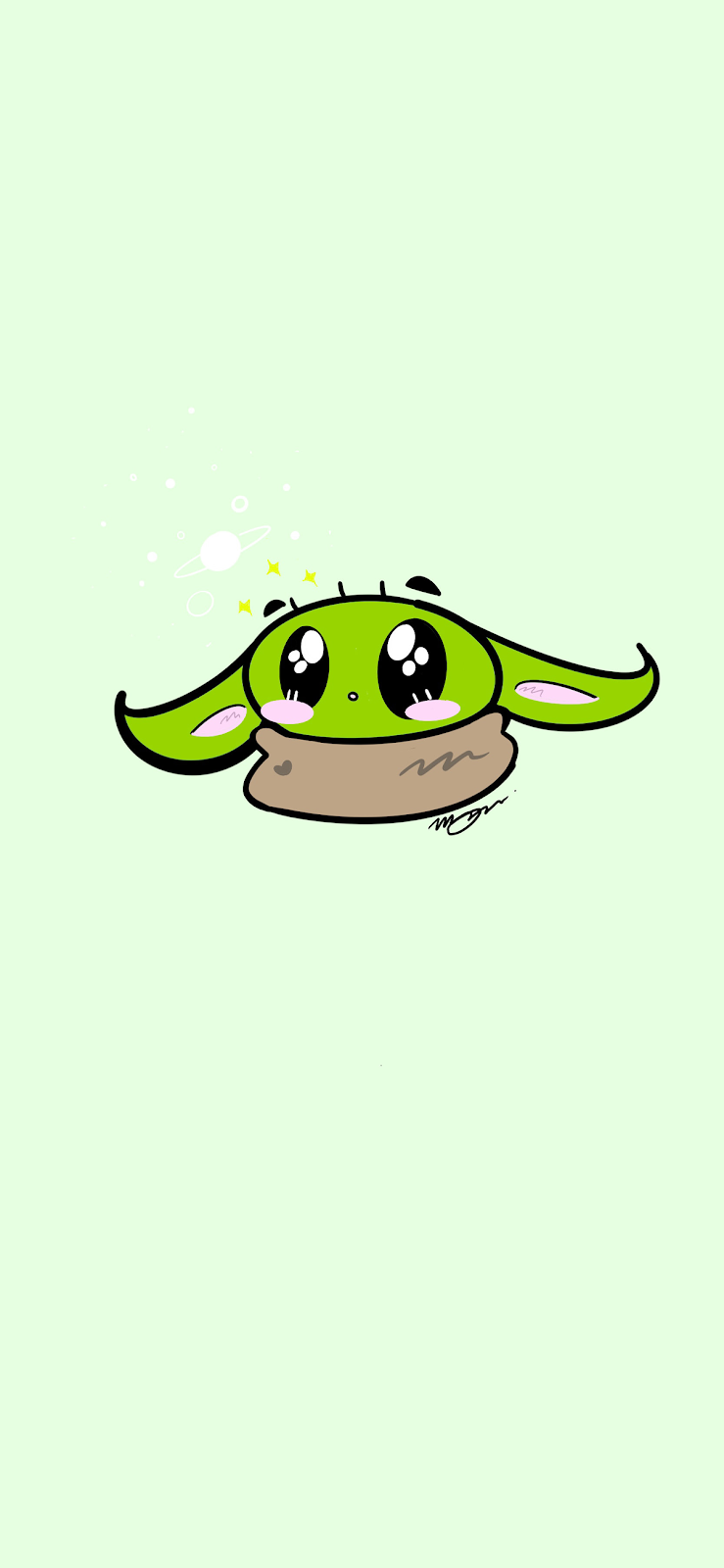 """[WALLPAPERS] The child """"Baby Yoda"""" phone wallpaper"""