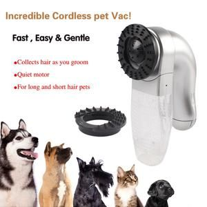Pet Hair Fur Remover, Cat Dog Pet Hair Fur Remover Shedding Grooming Brush Comb Vacuum Cleaner Trimmer