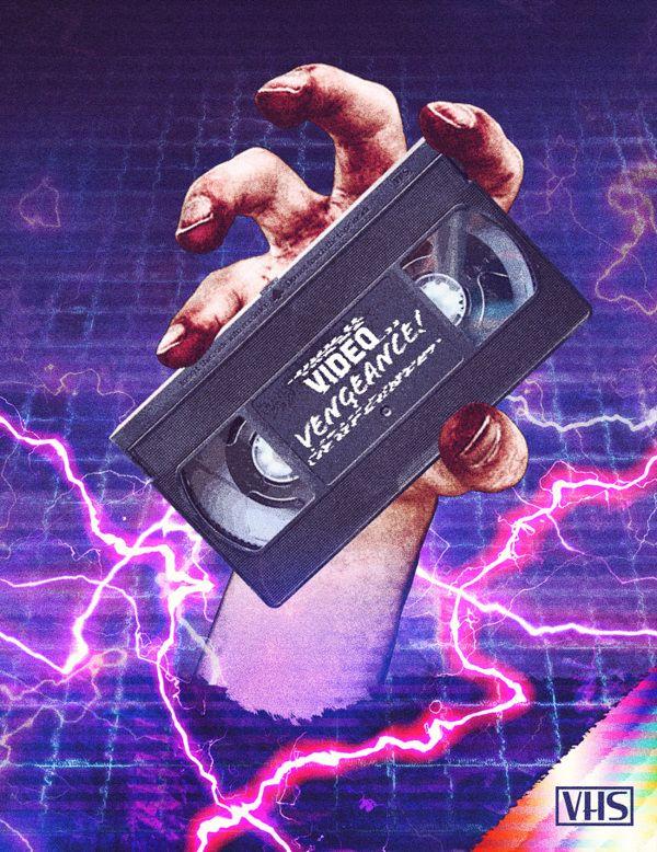 Video Vengeance Logo & Poster Retro futurism, Vaporwave