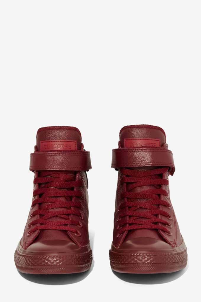 Converse Chuck Taylor Brea Leather Sneaker - Burgundy - Sneakers ... 7070025a8