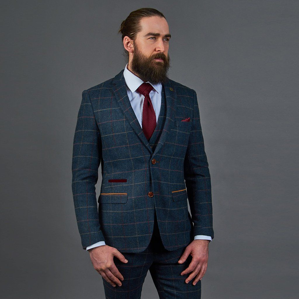 e57754d439f6 Marc Darcy Eton Navy Check Tweed Style Suit Blazer in 2019 | Andrés ...