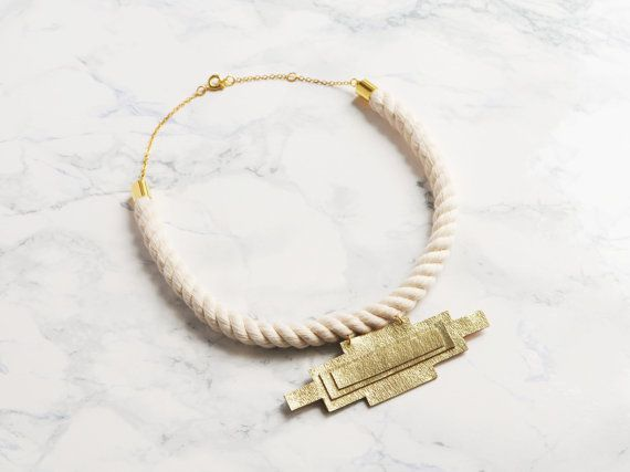 Awesome Etsy listing at https://www.etsy.com/pt/listing/227945839/handmade-statement-rope-and-gold-leather