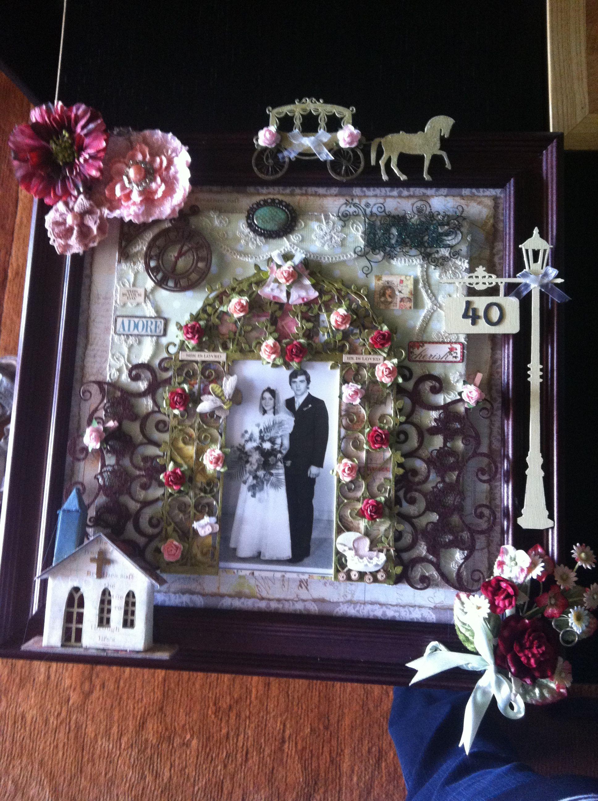 scrapbooking 40.Jahre verheiratet