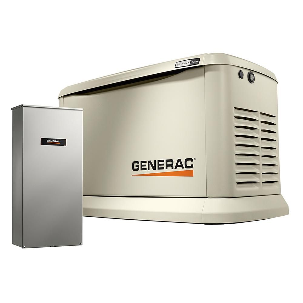 Generac 20000 Watt Air Cooled Standby Generator With Whole House 200 Automatic Transfer Switch Wiring Diagram Lp 18000 Ng Amp
