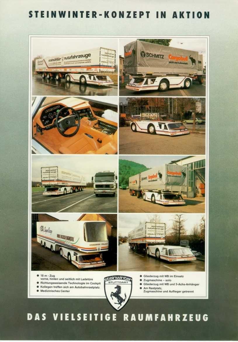 1983 Steinwinter Supercargo 2040 Cab Under Concept Weird Cars Truck Design Unique Cars