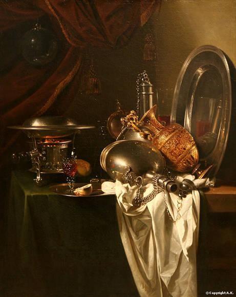 Les natures mortes - Oeuvres d'artistes des 17ème et 18ème siècle - Partie 3   Nature morte ...
