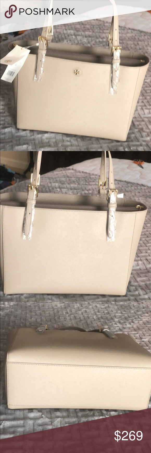 bde7b5e75eb Spotted while shopping on Poshmark: Tory Burch Emerson Small Buckle tote! # poshmark #fashion #shopping #style #Tory Burch #Handbags