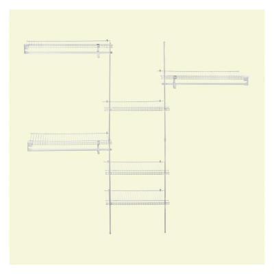 ClosetMaid, SuperSlide 5 Ft. To 8 Ft. Metal White Closet Organizer Kit,
