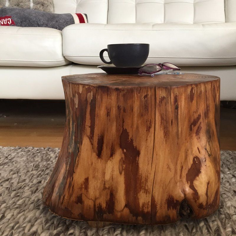 White Tree Stump Coffee Table: Stump Side Table, Log Side Tables, Log Stool,Rustic Coffee