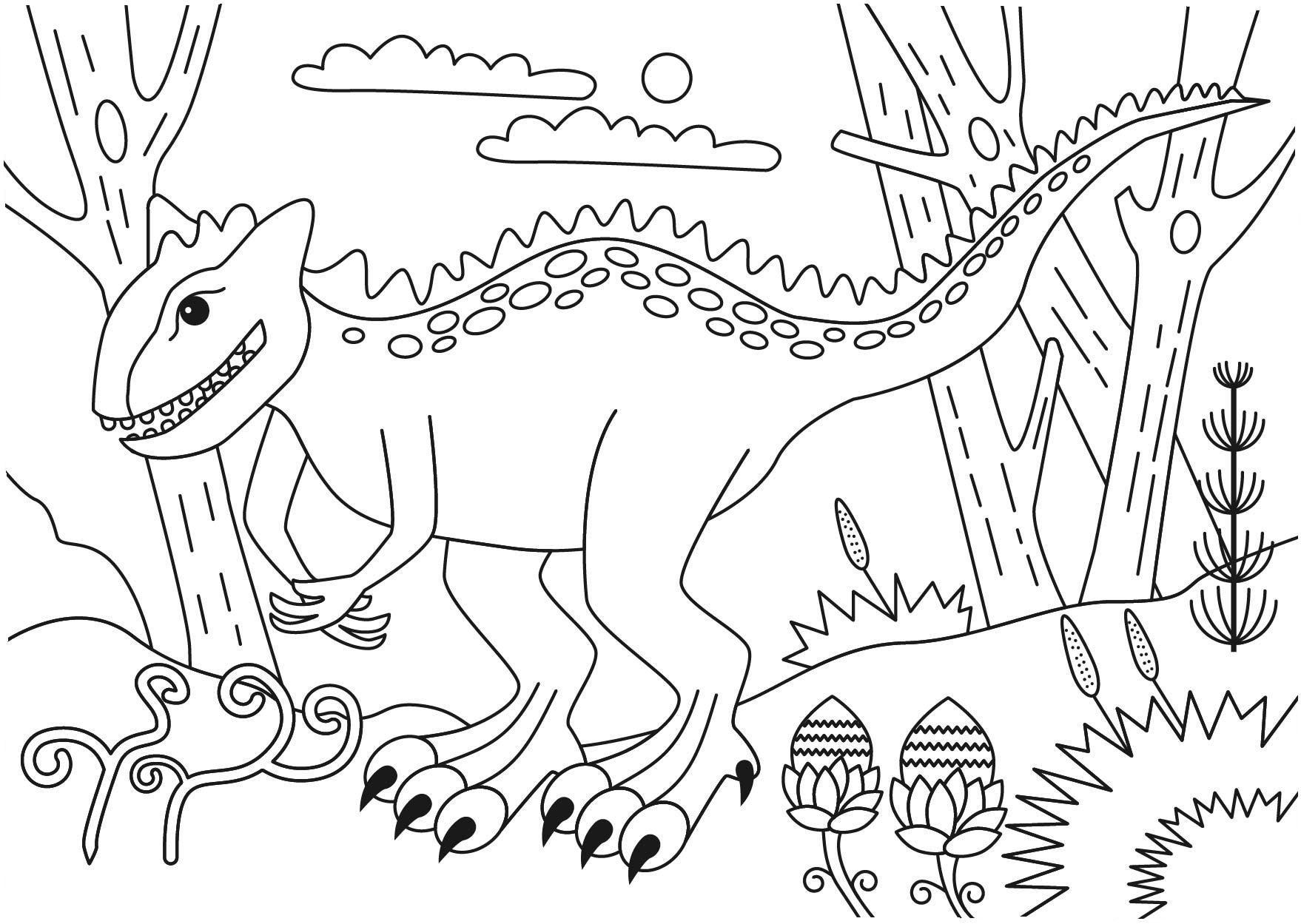Carnotaurus, Carnotaurus dinosaur coloring pages,