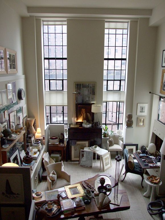 Just about my favourite apartment ever... Thomas O'Brien, of course.